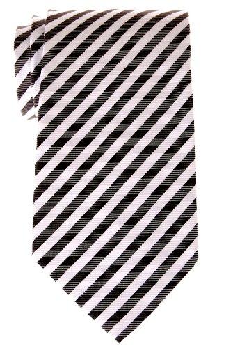 Cravate À rayures Tissée en Microfibres de Retreez Noir et Blanc