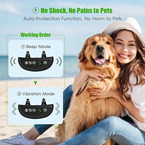 Anti-Bark-Dog-Training-Collar-OMorc-Intelligent-Anti-Bark-Advanced-Dog-Stop-Barking-Collar-Safe-and-Humane-with-Sound-and-Vibration-Advanced-Chip-with-7-Sensitivity-Adjustable-LevelsFlexible-and-Adjus