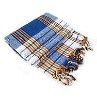 Asciugamani Pestemal Fouta sarong kikoy per spiaggia, piscina, bagno turco, hammam, spa Classic Blue Check
