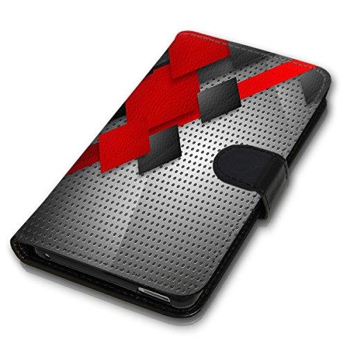 Wallet Book Style Flip Handy Tasche Case Schutz Hülle Schale Motiv Etui für Apple iPhone 4 / 4S - Variante UMV6 Design12 Design 9
