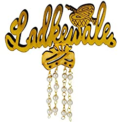 Ammvi Creations Ladkewale 3D Wooden Brooch Lapel Pin for Unisex -Pack of 6