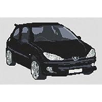 Peugeot 206 Gti tabla de punto de cruz