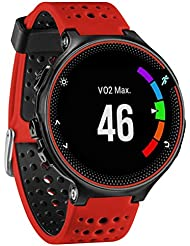 Para Garmin Forerunner 230 / 235 / 220 , Transer® El color multi Correa banda de reloj de silicona suave reemplazo para Garmin Forerunner 230 / 235 / 220 Watch (Rojo)