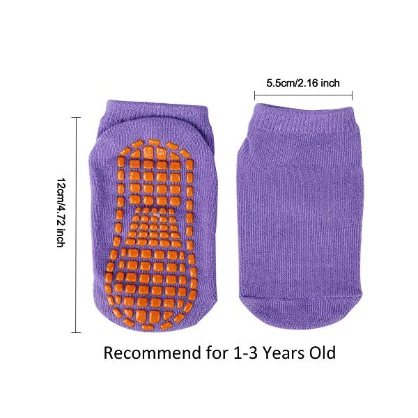 MaoXinTek Calcetines Antideslizantes para Niños Pequeños Algodón Lindo con Puños, Calentar 8 Pares de Zapatillas… 5