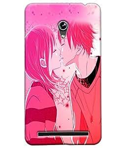 Fuson Love Couple Back Case Cover for ASUS ZENFONE 6 - D3990