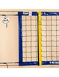 Beach-Volleyball-Turniernetz DVV-1, ca. 3 mm, 8,5 x 1,0 m, Einfassung blau