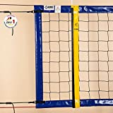 Beach-Volleyball-Turniernetz DVV-1, ca. 3 mm, 8,5 x 1,0 m, Einfassung blau