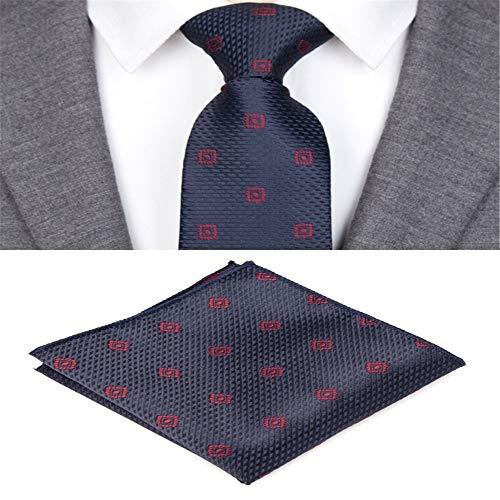 Zjuki Krawatte Krawatten für Männer Plaid gestreifte Fliege Set Jacquard gewebt Herren Krawatte Gravata Taschentuch Shirt Zubehör Hochzeit A -