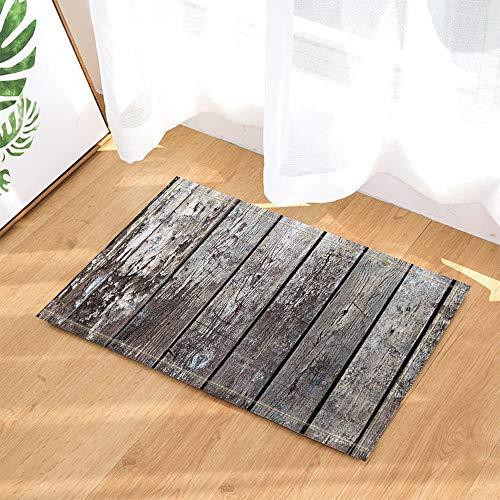 GAOFENFFR Alte gebrochene braune Holzplatte wasserdichte Rutschfeste Fußmatten ohne Chemikalien