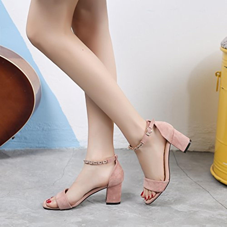 Un Boton De Zapatos De Tacon Alto, Sandalias De Dedo, Diamante,Rosa,Eu36Cn37