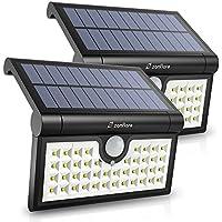 Zanflare 42 LED Luce Solare, Lampade Energia Solare da Esterno con Sensori di Movimento, Applique da Parete a Energia Solare Pieghevole per Giardino, Recinzione, Patio, Cortile, Scale, ecc