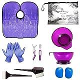 xnicx Seconde génération Purple Hair Dye Kit teinture des cheveux coloration bricolage Salon de...
