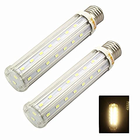 Bonlux 2-Packs 15W E27 LED Corn Light Warm White 3000K 120 Watt Equivalent Screw ES LED Retrofit Corn Bulb for Household/Garden/Yard/Post Top