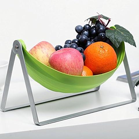 Tofern Basket pieghevole frutta storage cremagliera stand supporto di memorizzazione