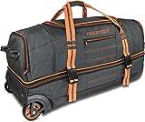 normani Reisetasche mit Rollen und großem Stauraum - mit Trolley-Funktion Farbe Orange Größe 90 Liter