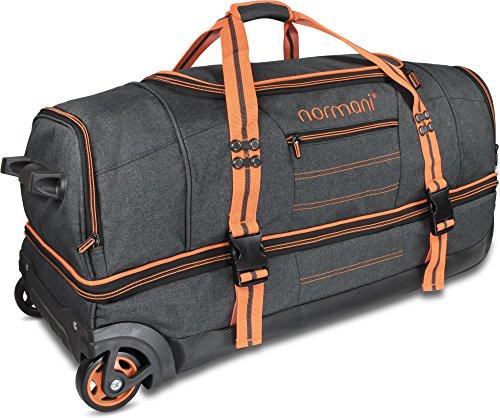 normani Reisetasche mit Rollen und großem Stauraum - mit Trolley-Funktion Farbe Orange Größe 120 Liter