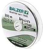 Balzer Iron Line 4-fach geflochtene Angelschnur - verschiedene Farben - Diverse Schnurstärken (Grün, 0,13 mm)