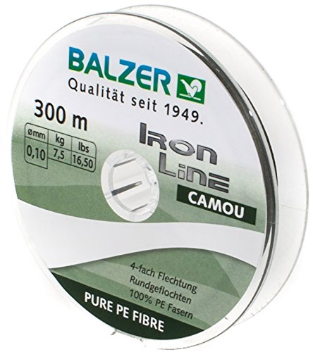 Balzer Iron Line 4-fach geflochtene Angelschnur - verschiedene Farben - Diverse Schnurstärken (Grün, 0,19 mm)