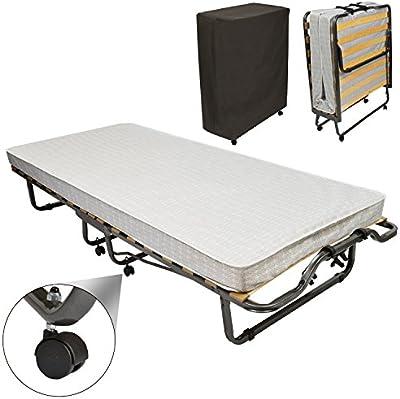 Beautissu® Cómoda cama para invitados - cama plegable - Monaco - 90 x 200 cm - Armadura de metal - Incl. funda cm