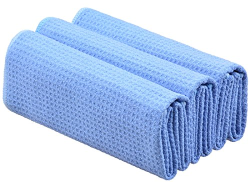 sinland-microfiber-waffle-weave-kitchen-towels-dish-cloth-3-pack-40cmx60cm-light-blue