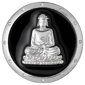 Pilgrim Jewelry Damen-magnetischen Clip Messing Emaille Coin 3.0 cm versilbert weiß 441346103