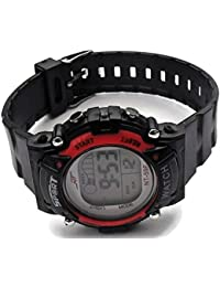 QBD niña de mujer Unisex Super valor impermeable función Multi LED digital Cronómetro Alarma retroiluminación deportes muñeca reloj (V-Red)