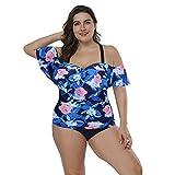 Damen Neckholder Bikini Set Sexy Halter Push Up Zweiteiliger Bikinis Einfarbig Badeanzug Bademode