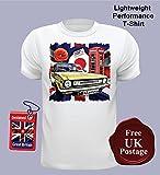 Morris Marina Men's T Shirt, Austin Marina, Union Jack, T Shirt, Mod Target, Poppy,