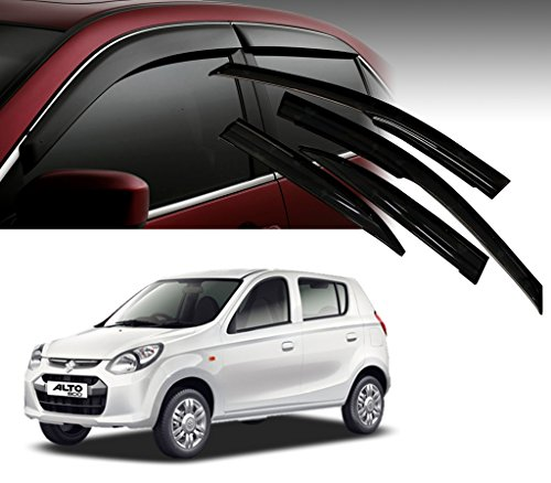 Auto Pearl - Premium Quality Car Rain Wind Door Visor Side Window Deflector For - Maruti Suzuki ALTO- 800 - Set Of 4 Pcs  available at amazon for Rs.1199