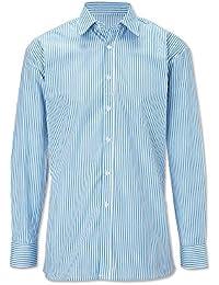 Alexandra Workwear Mens easycare Woven Stripe Long Sleeved Shirt