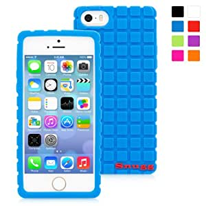 Snugg iPhone SE, 5s and 5 Silicone Case in Blue- Non-Slip Material, Protective and Soft to Touch for the Apple iPhone SE, 5s and 5
