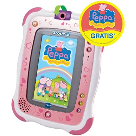 VTech - Tablet educativo Storio 2 (con juego Rufus), color rosa (3480-136857)