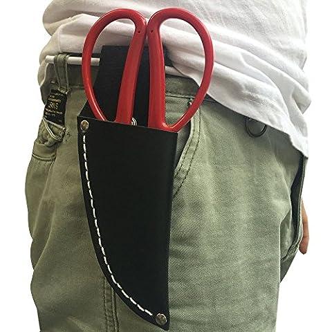 Cuir Gaine de couteau, gaine de cuir Pouch Outil de jardinage Holster Sac ceinture support coque pour pince, sécateur, ciseaux, couteau ou jardin (Jdb02)
