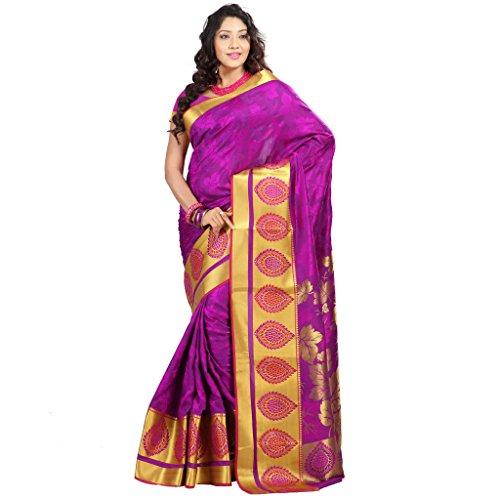 Janasya Women's Multicolor Big Border Art Silk Saree (JNE09176-Multi-SR-JP7103PV)  available at amazon for Rs.1499