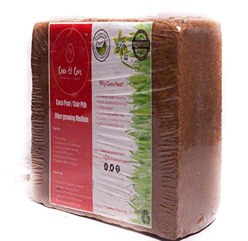 Coco & Kokosfaser 5kg (70L) | Bio | Kokos | 100% natürliche | Reptile Freundlicher | wachstumsmedien | Bepflanzen Coco Boden | Coconut Kompost | Premium Qualität komprimiert Kokosfaser Briketts | Kokos Bricks