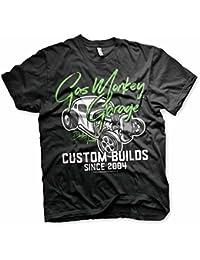 Gas Monkey Garage Custom Builds Neon Fast N' Loud Licensed Black Mens T-shirt