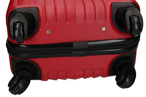 51prP5z4vSL - 3 Maletas rígidas PIERRE CARDIN rojo 4 ruedas cabina para viajes VS213