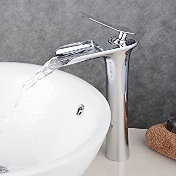 Beelee rubinetto alta a cascata per lavabo rubinetto maniglia singola rubinetto miscelatore - Rubinetto bagno cascata ...