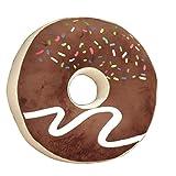 Nunubee Zierkissen Dekorative Donuts Kopfkissen PP Baumwolle Plüschtiere Sofakissen Dekokissen Schaumstoff Gefüllt Spielzeug, Braun