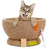 NAttnJf Katzen-Kätzchen-Kratzer-Brett-Schüssel-Form-Nest-Schlafens-Bett-Klauen-Sorgfalt Braun