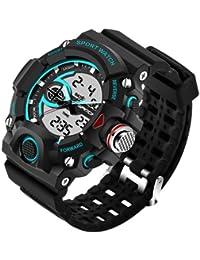 Sanda Fashion Men's Watch Waterproof LED Military Sports Watch Analog Digital Quartz-Watch Relogio Masculino -... - B07B9Z3ZNR