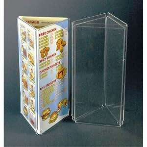 Porte-Menu de Table Acrylique Présentoir 'Toblerone'Triangle 3A4. Code ACAS11A4/1