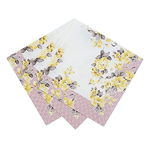 Talking Tables Truly Scrumptious Vintage Floral Paper Napkins (33cm) for a Tea Party, Summer or Birthday Party, Multicolor (20
