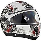 Studds Full Face Helmet Ninja 2G D1 (White N2, M)