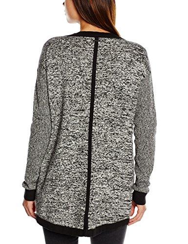 Calvin Klein Jeans Satre - Sweat-shirt - Col V - Manches longues - Femme Gris (Météorite)