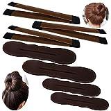 YuCool Lot de 3 mini chignons magiques pour chignon 2 petits, 2 grands, accessoires pour cheveux...