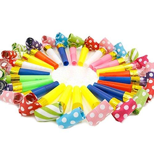 Wildlead 10 STÜCKE Farbe Kleine Dot Blowouts Pfeifen Kinder Geburtstag Partybevorzugungen Dekoration Liefert Noicemaker Spielzeug Goody Taschen Pinata Farbe Zufällig