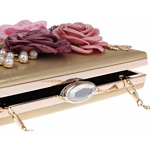 YYW Evening Bag, Poschette giorno donna Rose