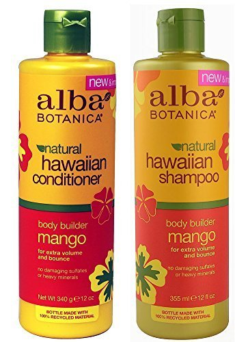Alba Botanica, natural Hawaiian Shampoo and Conditioner, Mango, 12-Ounce Bottle by Alba -