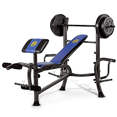 Marcy MWB-36780b Starter Weight Bench, 35kg Set & Butterfly Arms from Impex